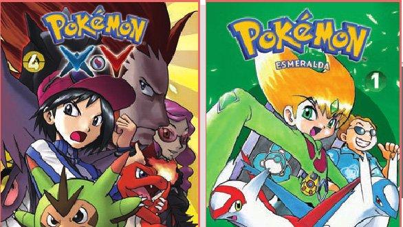 Disponible en español el manga de Pokémon Esmeralda y el cuarto volumen de la saya XY