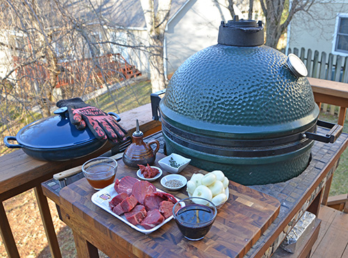 Grilling out with a Big Green Egg