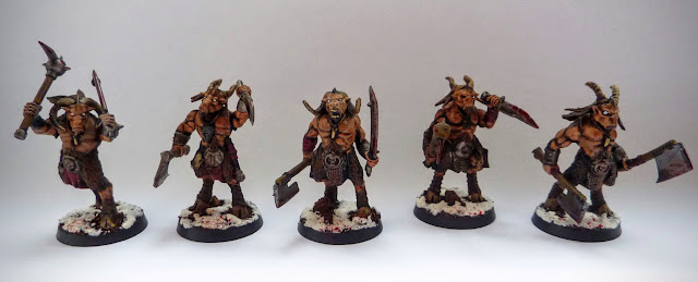 A painting update for Beastmen Gor for Age of Sigmar, Realm of Ghur.