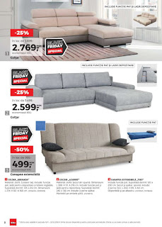 CATALOG KIKA Black Friday 2018 Canapele si Coltare