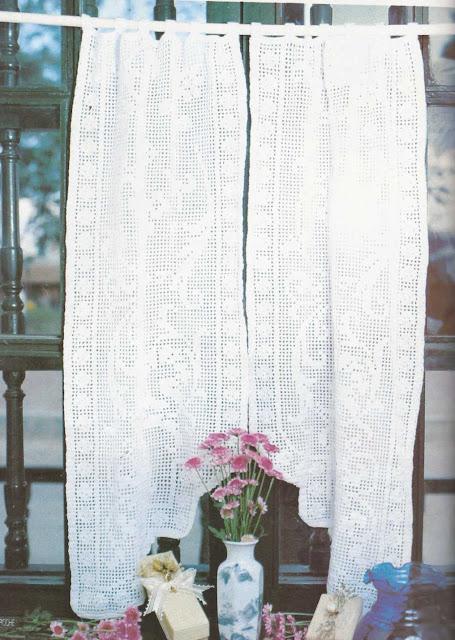 Patrón #1191: Cortina a Crochet