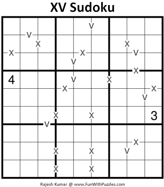 XV Sudoku Puzzle (Fun With Sudoku #377)