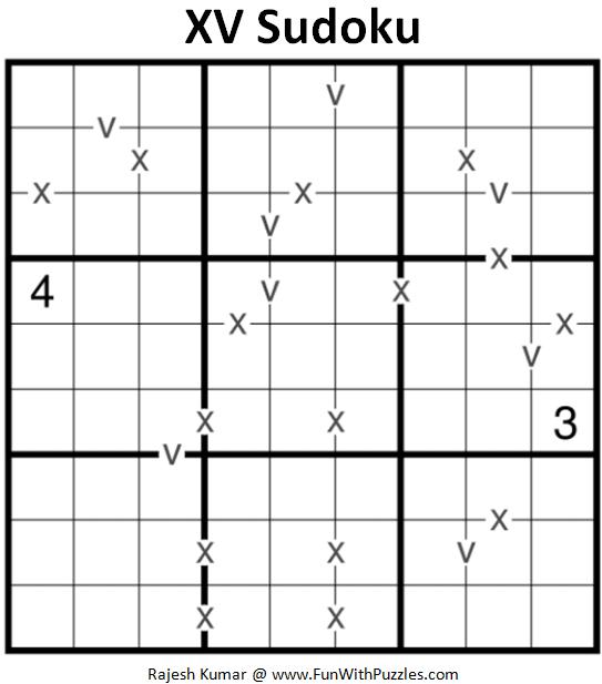 XV Sudoku Puzzle (Fun With Sudoku #377)