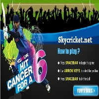 Play Hit Cancer For Six Cricket game