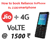 Book Reliance JioPhone online at Just Rs 1500
