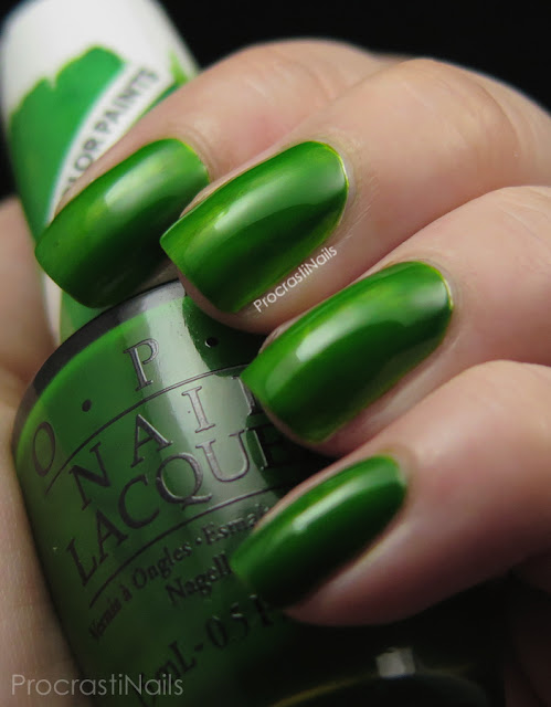 Swatch of OPI Landscape Artist from the 2015 Color Paints Collection