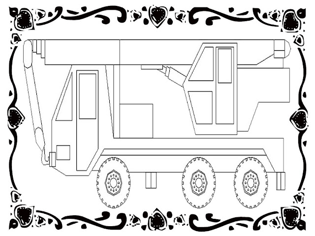 Construction Vehicles Coloring Sheets