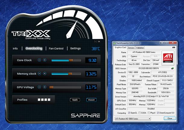 Unlock higher clocks in Sapphire Trixx utility to overclock your ATI