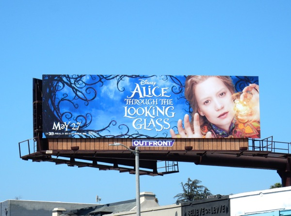 Mia Wasikowska Alice Through the Looking Glass billboard