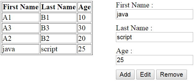 java script how to get table cell value