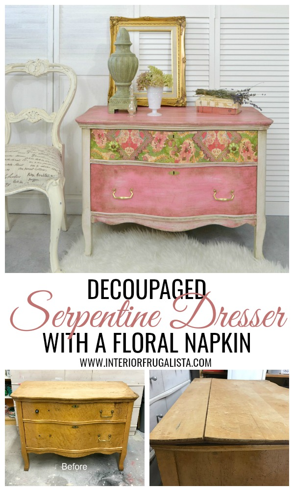 Serpentine Dresser Makeover Before and After