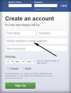 شرح كيفية عمل ايميل على الفيس بوك لأول مرة بطريقة سهلة , كما نعرف جميعاً فإن استخدام موقع التواصل الاجتماعي فيس بوك أصبح عنصر أساسي في حياة الكثير من الأشخاص اليوم, ولم يعد يقتصر على فئة بعينها بل أصبح هناك تواجد اجتماعي لا نهاية له من خلال هذه الشبكة الاجتماعية المذهلة,انشاء حساب فيس بوك ثاني,انشاء حساب فيس بوك لاول مرة,انشاء حساب فيس بوك جديد gmail,انشاء صفحة فيس بوك,عمل حساب فيس بوك بدون رقم هاتف بكل سهولة,انشاء حساب فيس بوك جديد بدون ايميل,انشاء حساب فيس بوك جديد بدون رقم هاتف,كيف اعمل ايميل فيس بوك
