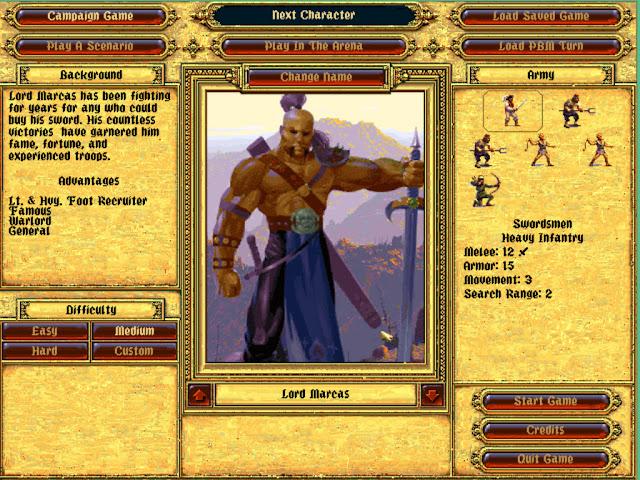 Lord Marcas | Fantasy General Screenshot