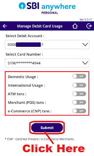 how to block sbi debit card by phone