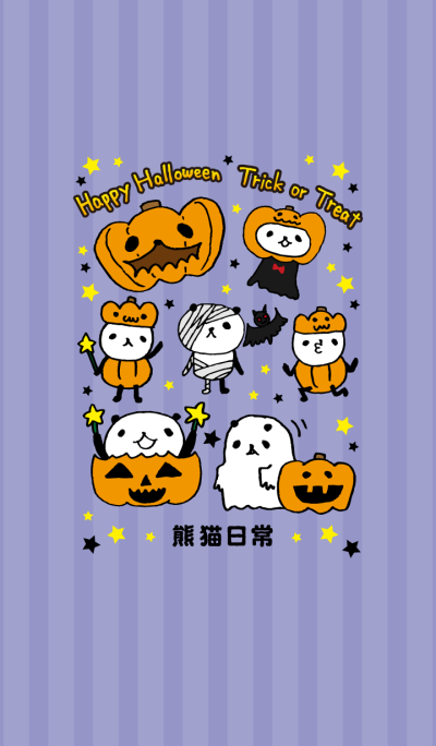 Every day of a panda 8-Happy Halloween-