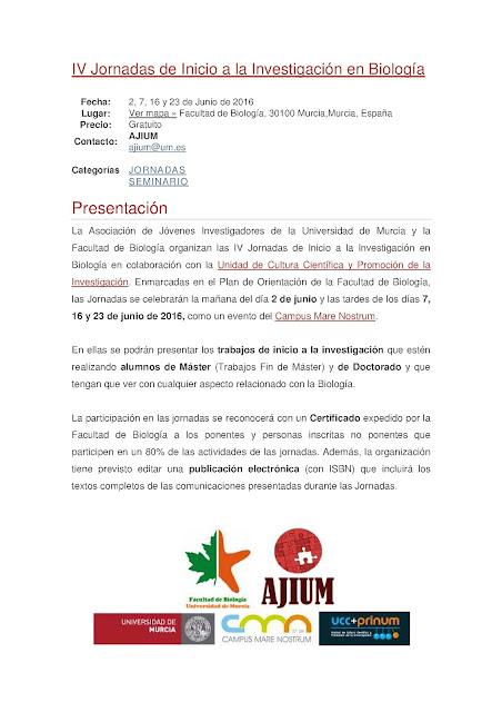 IV Jornadas de Iniciación a la Investigación de Estudiantes.