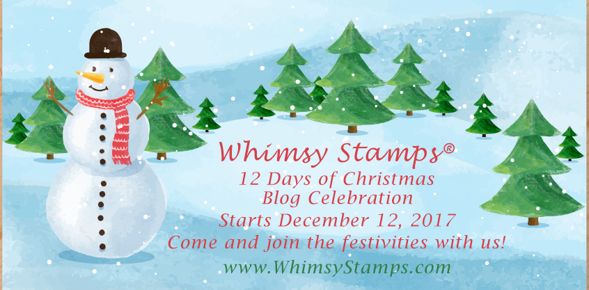 some exciting news in my little corner of stamp land i was asked to guest design for someone yes me whimsy stamps i was pretty darn excited - How Many Days Of Christmas