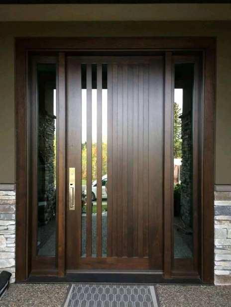 Contoh Pintu Rumah Minimalis Modern Terkini Rumah Minimalis Batu Alam