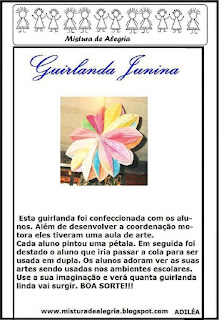 Modelo de guirlanda festa junina