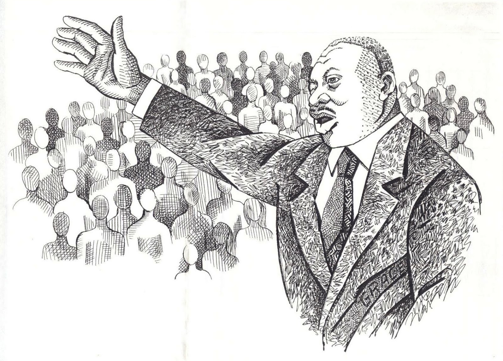 The Talking Artist Martin Luther King Jr Illustration