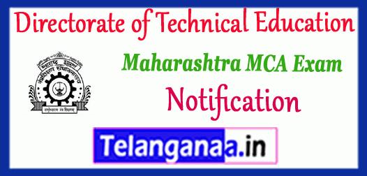 Directorate Of Technical Education Maharashtra MCA 2019-20 Notification