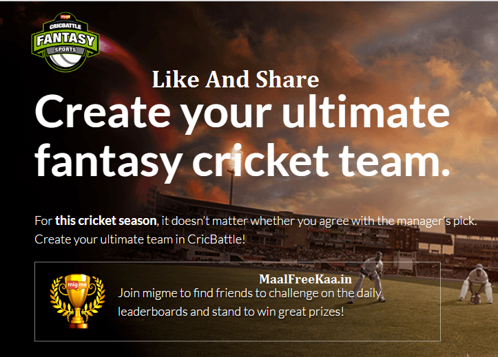 Cricket contests to win prizes