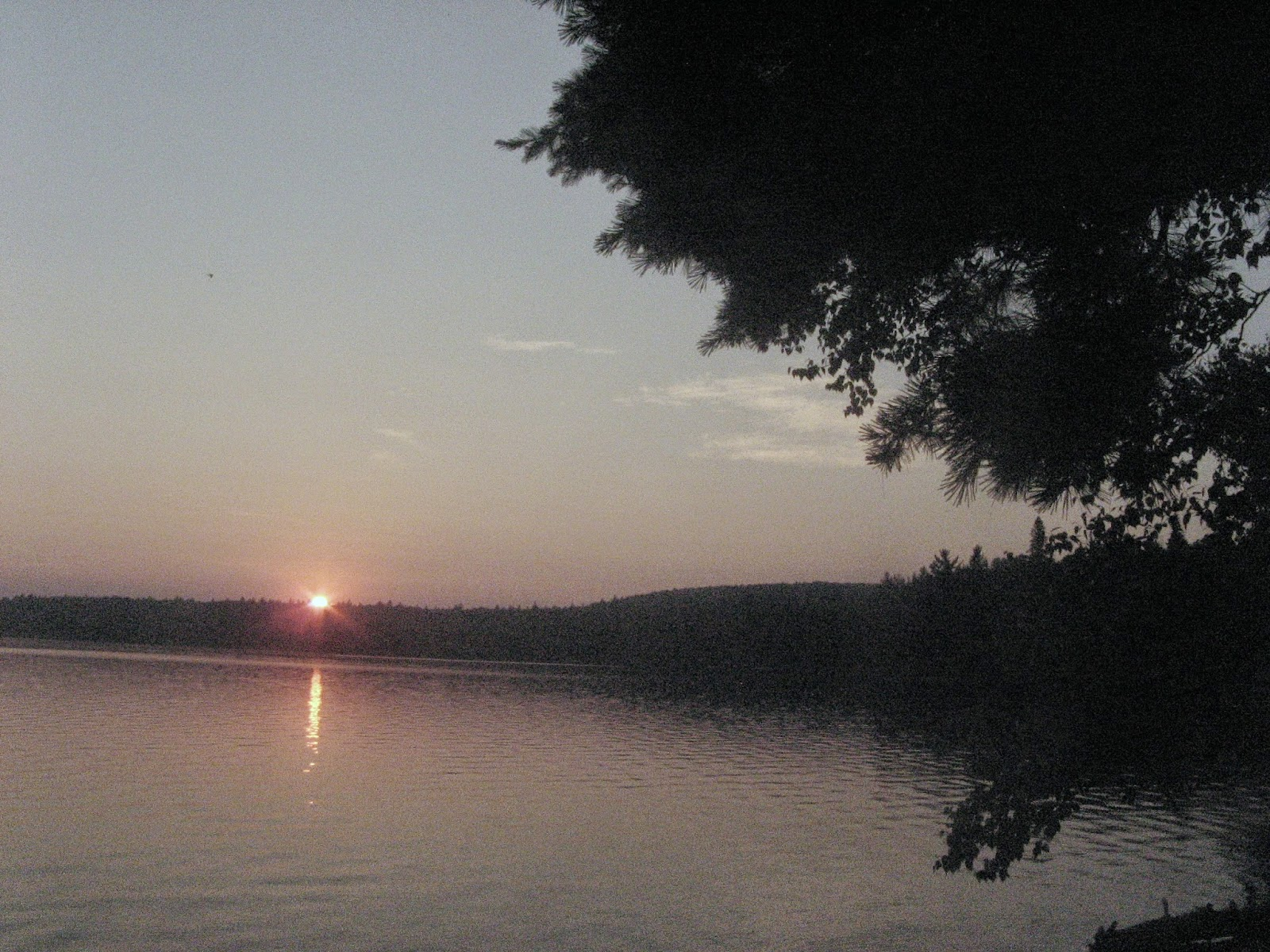Sunset over Booth Lake, in Algonquin Park