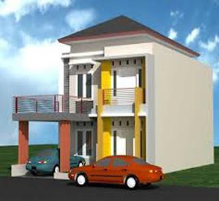 desain rumah minimalis 2 lantai ukuran lebar 6 meter x panjang 12
