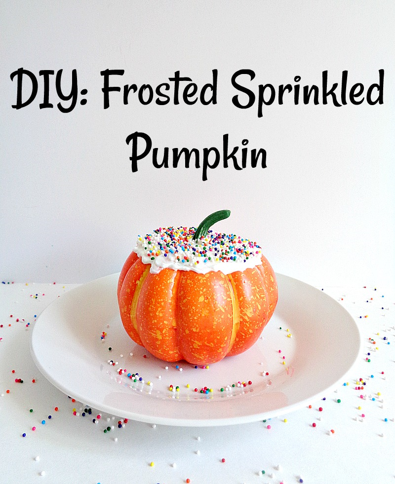 Running With A Glue Gun: DIY: Frosted Sprinkled Pumpkin   800 x 981 png 1055kB