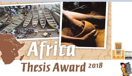 Africa Thesis Award 2018