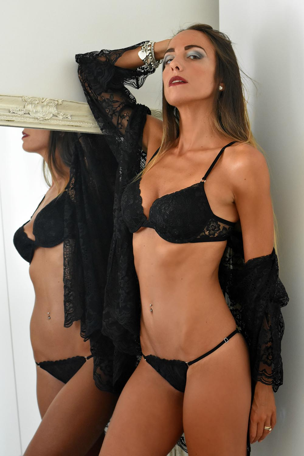 intimo in pizzo nero