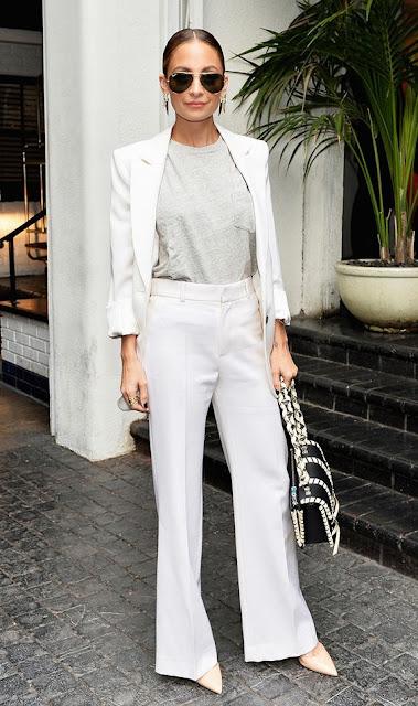 White blazer celeb style - Nicole Richie