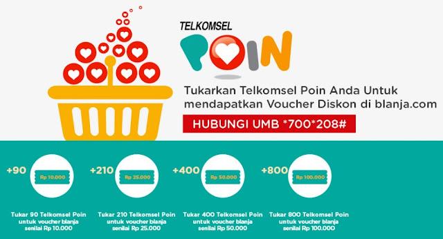 Promo Telkomsel Poin dari blanja.com