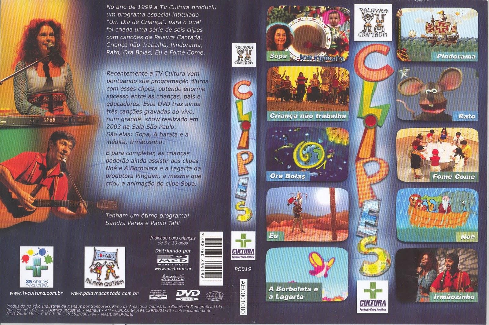 MUSICAIS CANTADA DVD PALAVRA BAIXAR BRINCADEIRAS SHOW