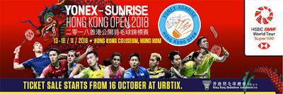 Yonex Sunrise Hong Kong Open 2018