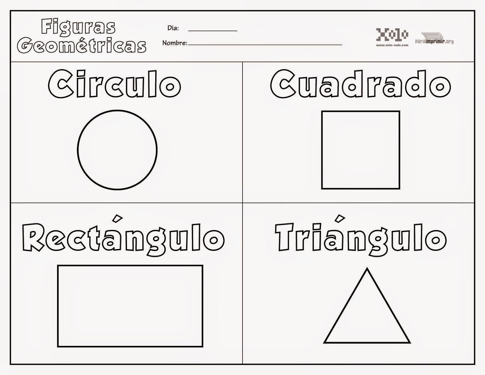 Dibujos De Figuras Geometricas Para Colorear E Imprimir: Educación Infantil Con TIC: Figuras Geométricas