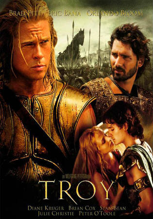 Poster of Troy 2004 Full Movie BRRip Dual Audio 720p DC ESubs