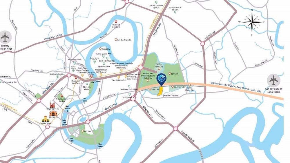 sơ đồ vị trí khu căn hộ gem riverside