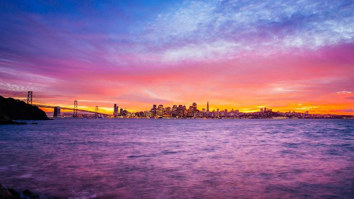 Wallpaper: San Francisco Treasure Island Sunset