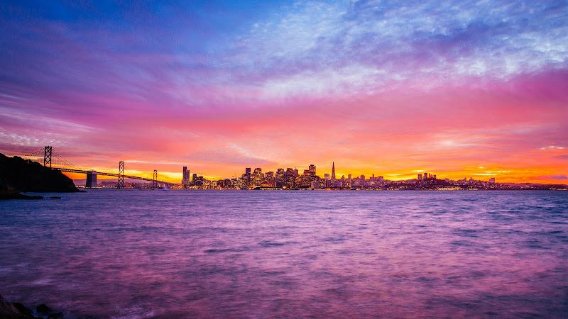 Treasure Island, San Francisco at Sunset HD