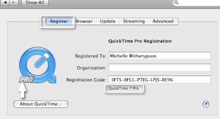 Quicktime 7 Pro Serial