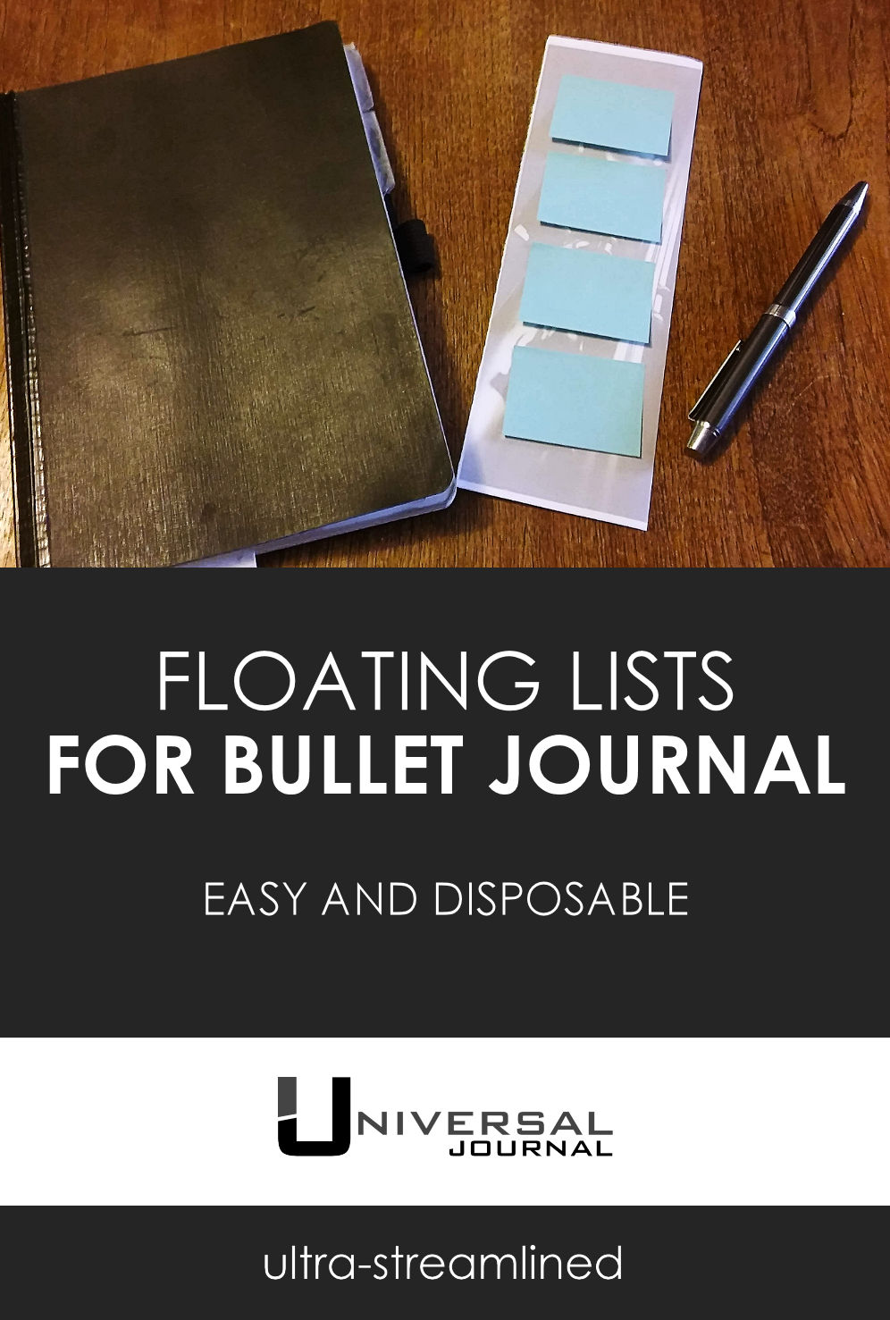 Disposable Floating Lists for Bullet Journal