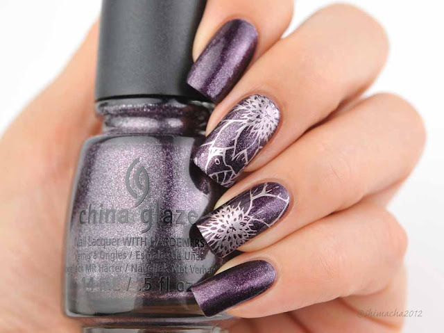 China glaze: Rendezvous With You, Bunny Nails: BuNa-C, スタンピングネイル