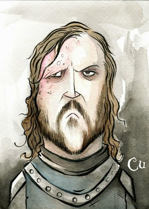 07-Game-of-Thrones-The-Hound-Chris-Uminga-Game-of-Thrones-Watercolours-www-designstack-co