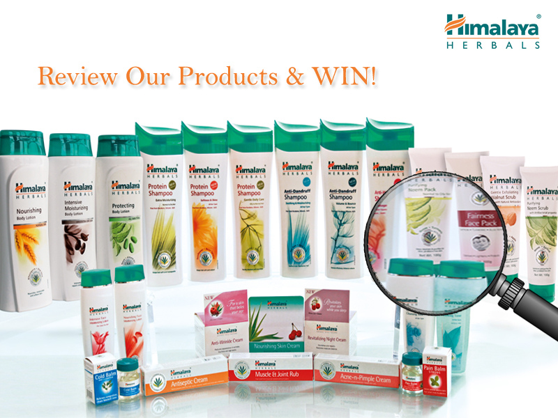 Contest !! Himalaya Product Review Our Product And Win !! - Free - product list samples