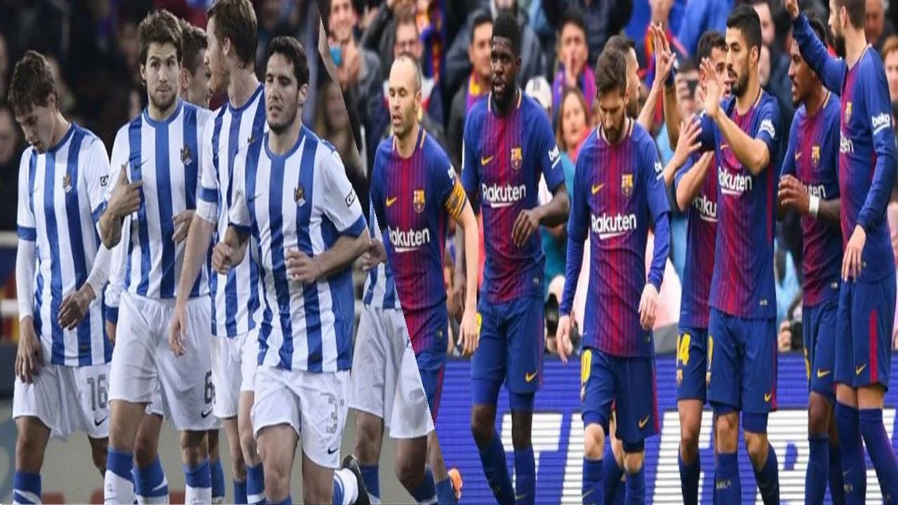 موعد مباراة برشلونة وريال سوسيداد فى الدورى الاسبانى