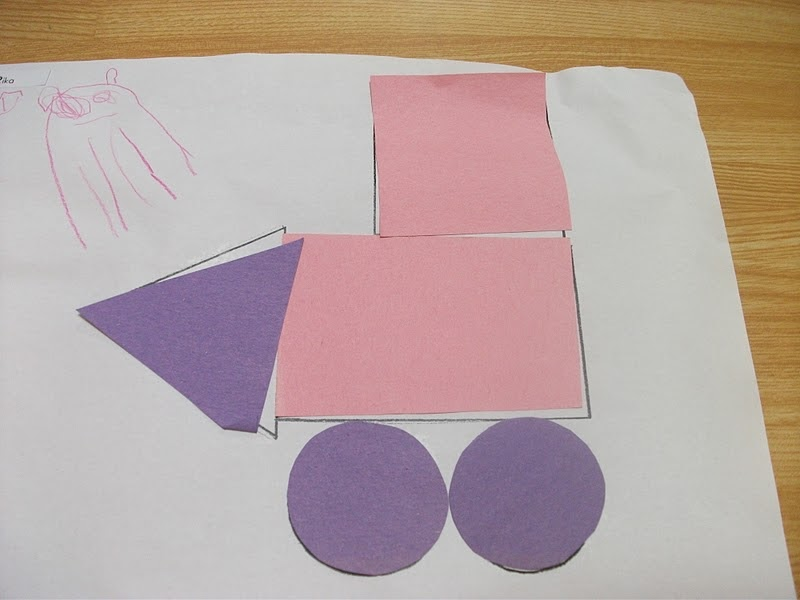 Preschool Crafts For Kids*: Shapes Train Paper Craft