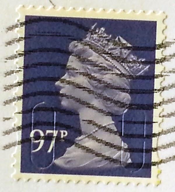 francobollo adesivo Queen Eliszbeth II 97p