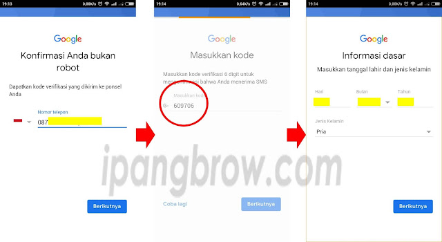 buat email di android