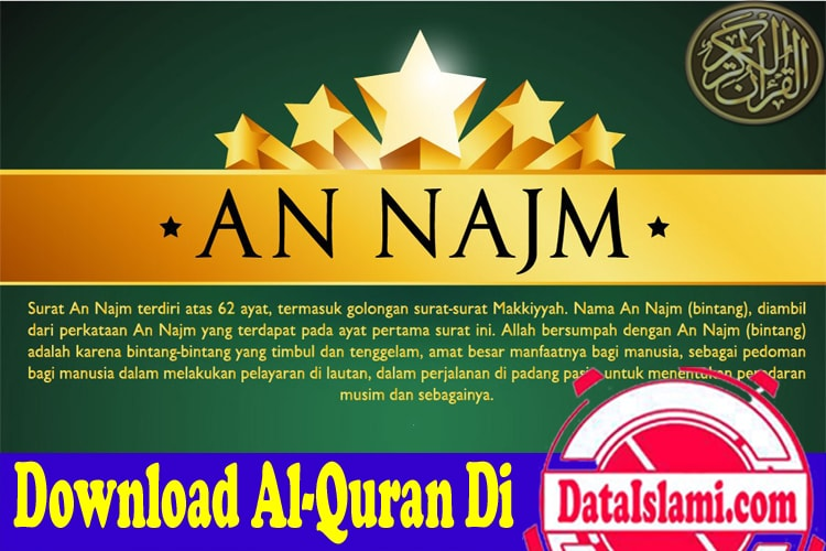 Download Surat An Najm Mp3 Suara Merdu Gratis Data Islami